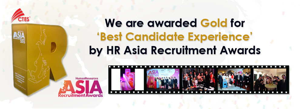 CTES's Gold Award for Best Candidate Experience